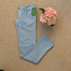 New Lilly Pulitzer Skinny Light Blue Pants 0